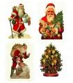 Σετ από 4 χριστουγεννιάτικες κάρτες